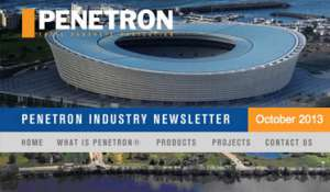 Newsletter PENETRON INTERNATIONAL ltd. - October 2013