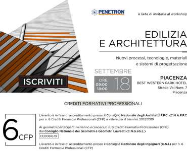 "Convegno <strong>INFOPROGETTO</strong>:<br />""<strong>EDILIZIA E ARCHITETTURA</strong>""<br />PIACENZA, Martedì 18 settembre 2018<br />Best Wetern Park Hotel, Strada Val Nure 7"